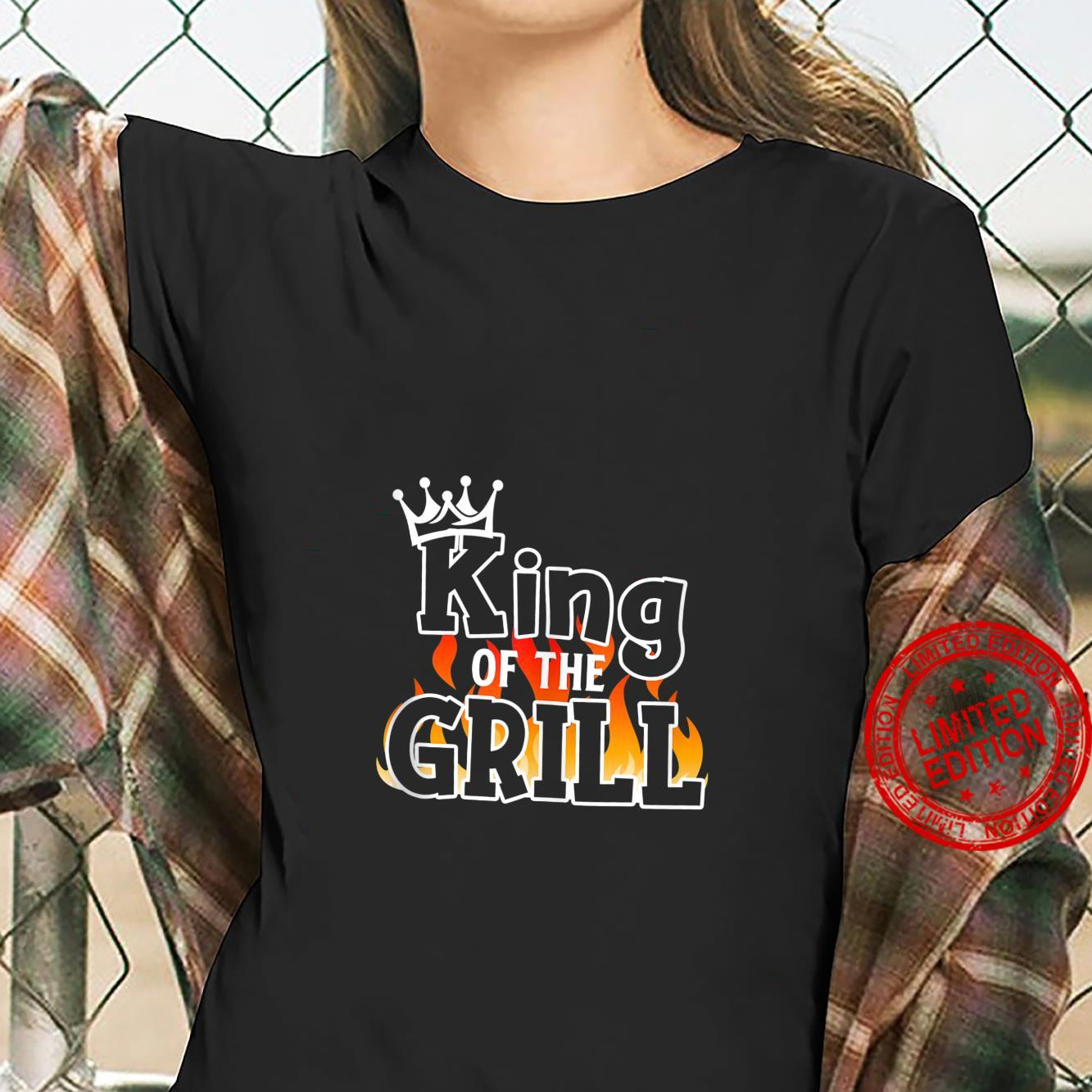King Of The Grill BBQ Lover Grill Chief Cook Shirt ladies tee