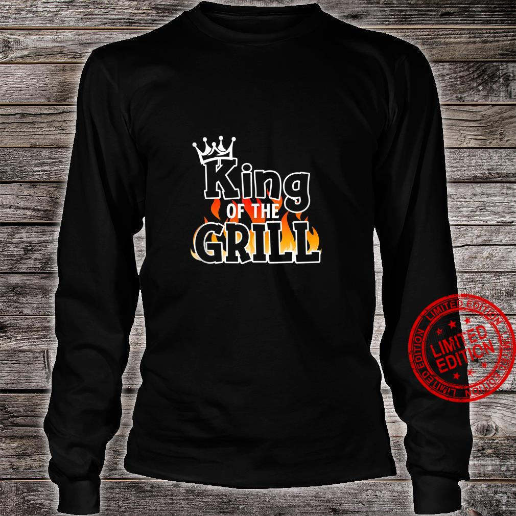 King Of The Grill BBQ Lover Grill Chief Cook Shirt long sleeved