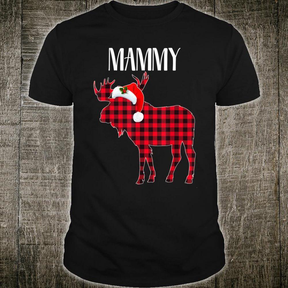 MAMMY Moose Plaid Red Buffalo Christmas Matching Family Shirt