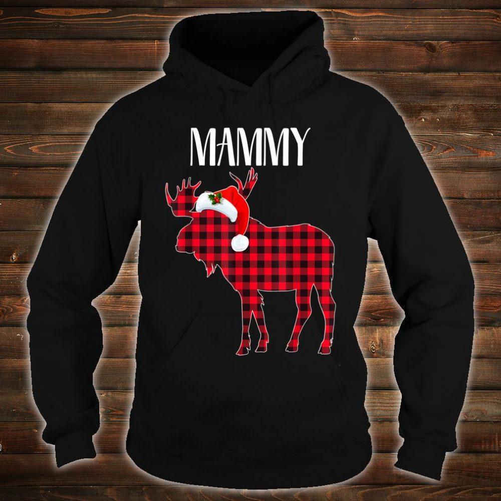 MAMMY Moose Plaid Red Buffalo Christmas Matching Family Shirt hoodie