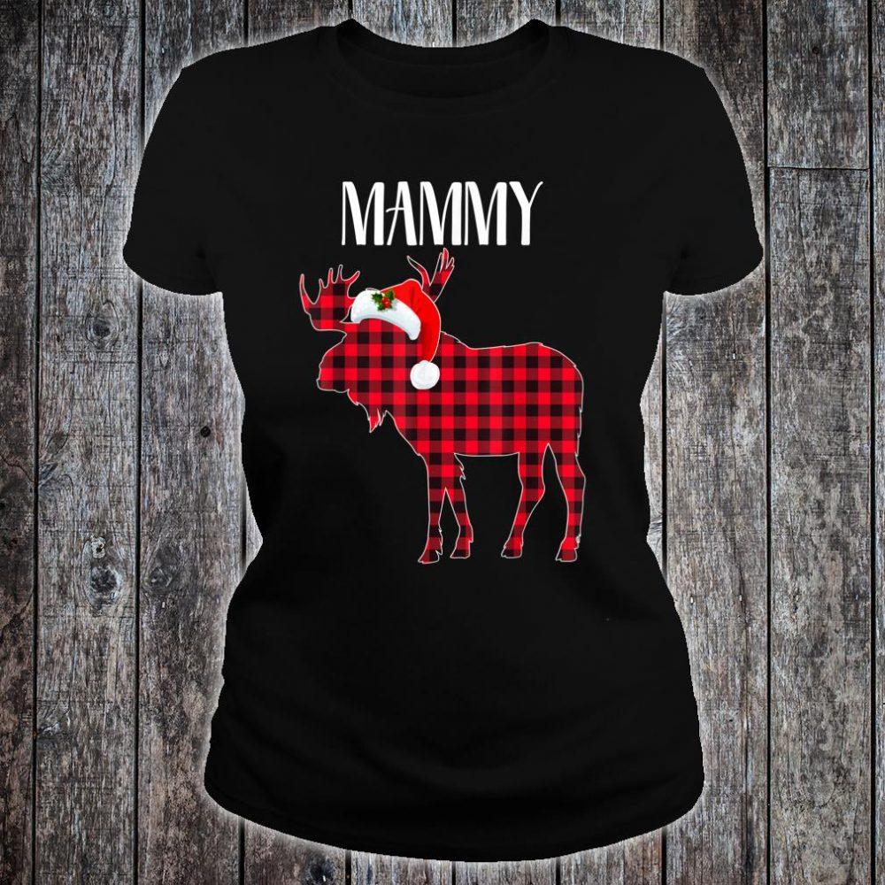 MAMMY Moose Plaid Red Buffalo Christmas Matching Family Shirt ladies tee