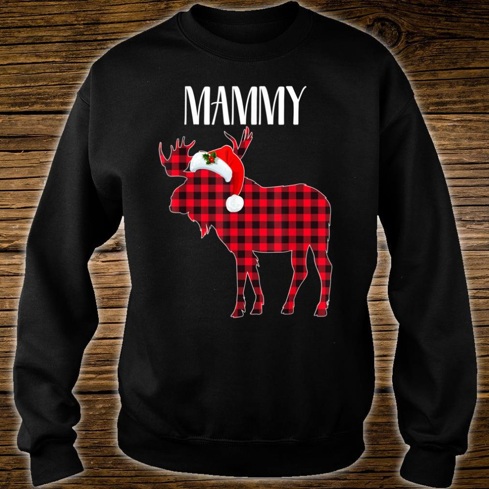 MAMMY Moose Plaid Red Buffalo Christmas Matching Family Shirt sweater