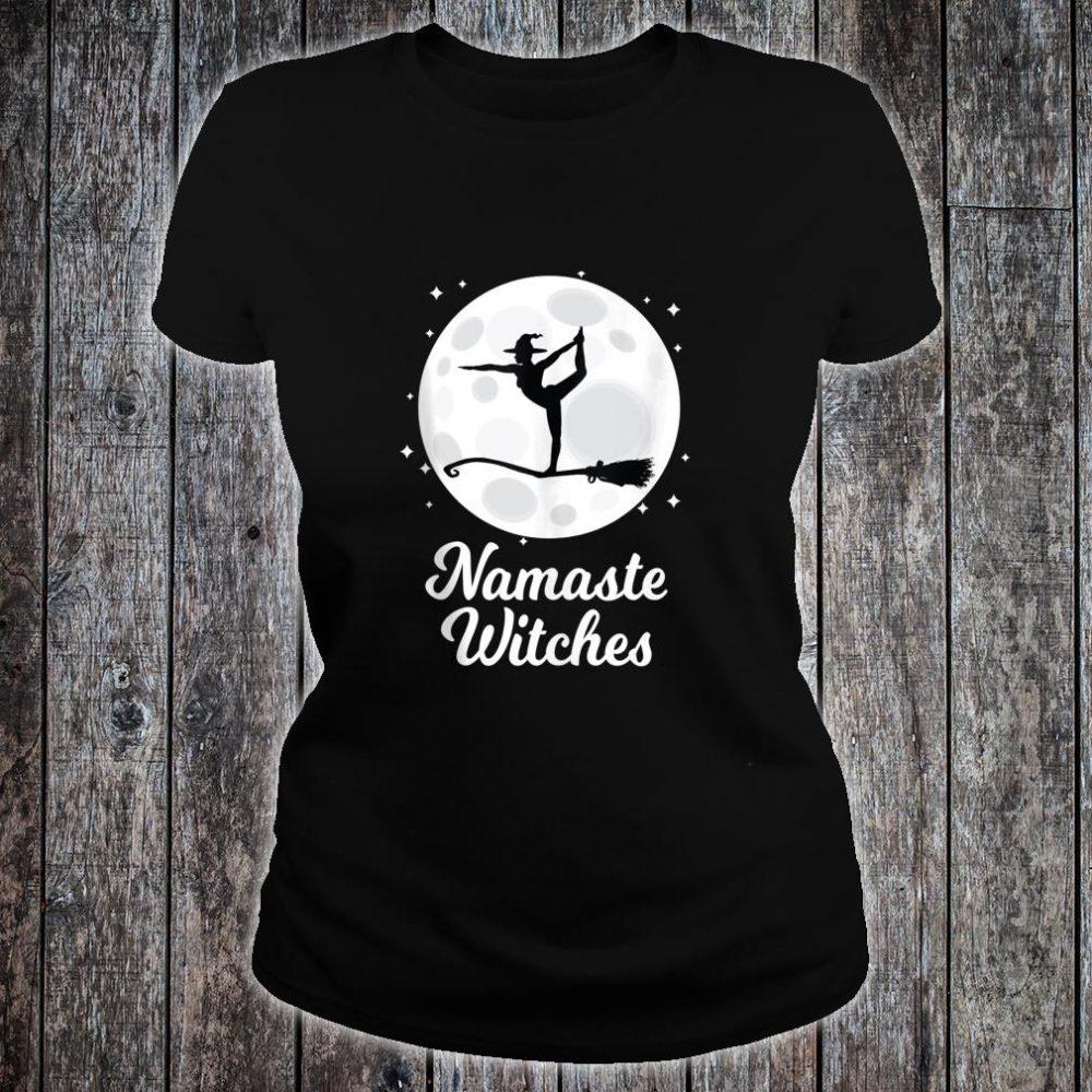 Namaste Witches Halloween Yoga Costume Girls Asana Shirt ladies tee