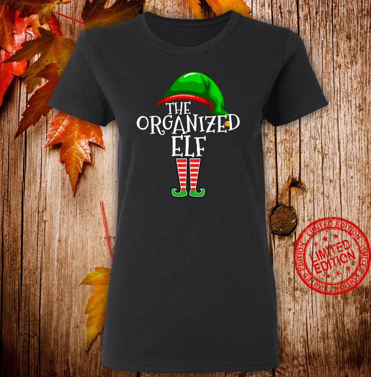 Organized Elf Group Matching Family Christmas Outfit Shirt ladies tee