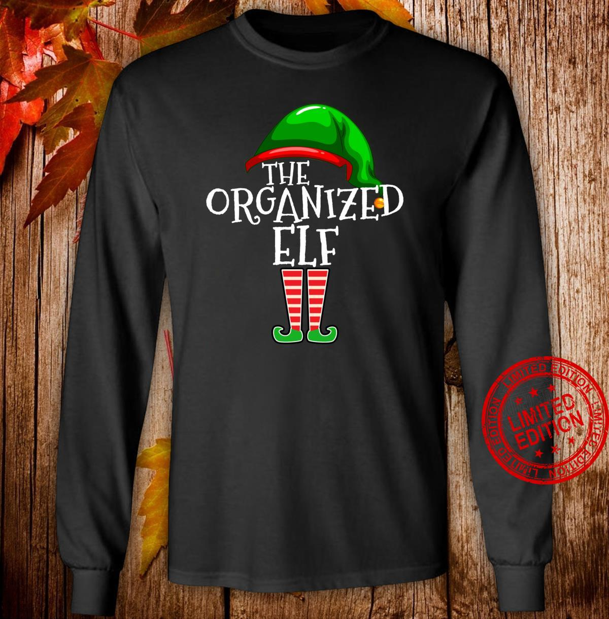 Organized Elf Group Matching Family Christmas Outfit Shirt long sleeved