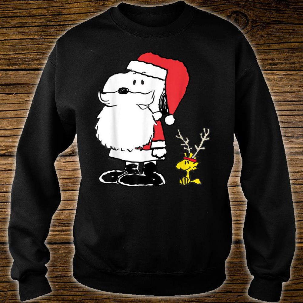 Peanuts Snoopy Woodstock Antlers Santa Shop Shirt sweater