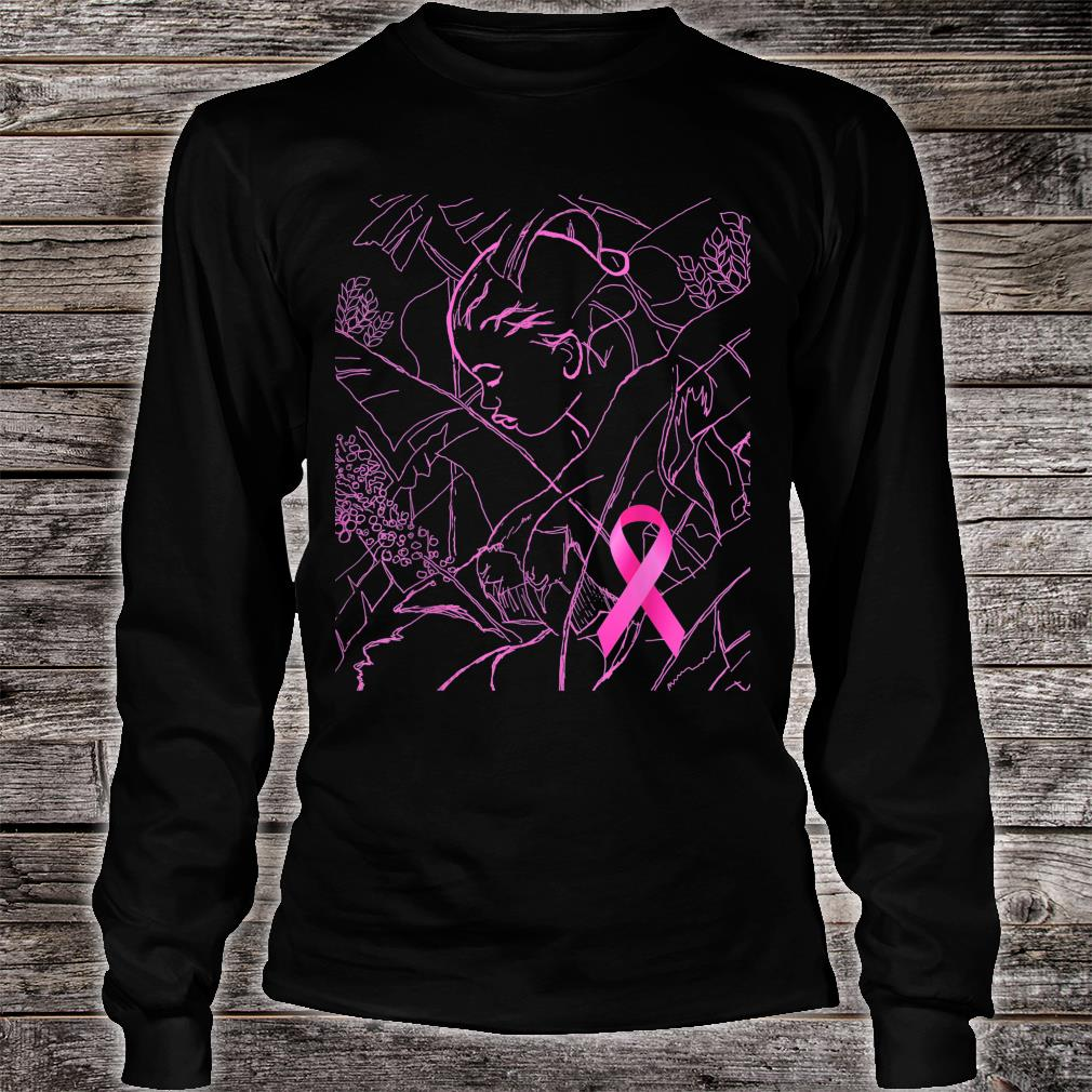 Pink Art for Breast Cancer Awareness Month Shirt long sleeved