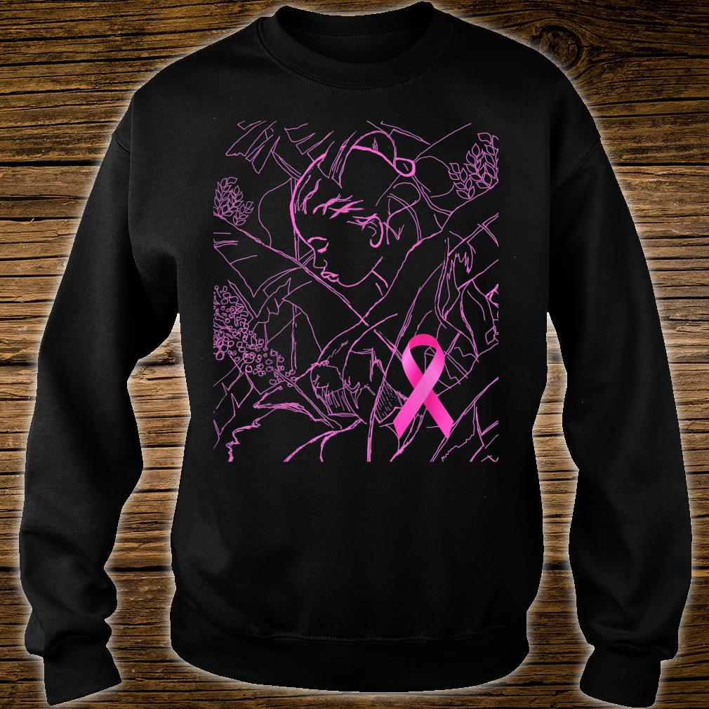 Pink Art for Breast Cancer Awareness Month Shirt sweater