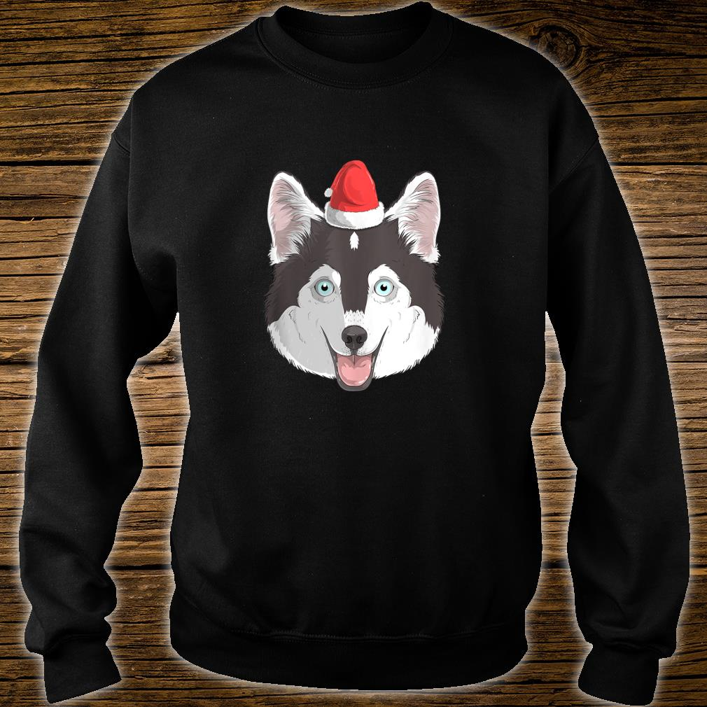 Pomsky Dog Santa Claus Christmas XMas Husky Mix Pomeranian Shirt sweater