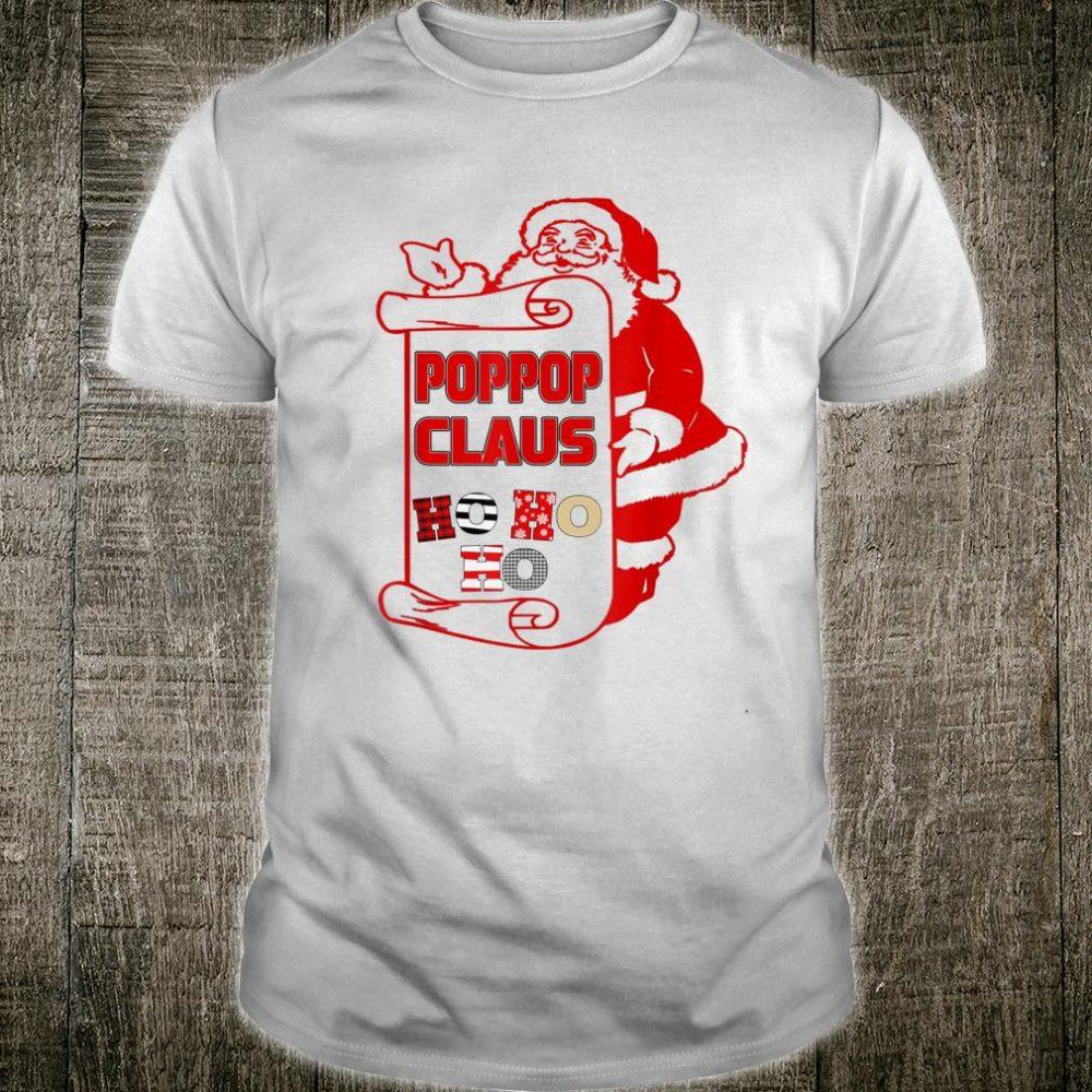 Poppop Claus Ho Ho Ho Santa Christmas Father Day Shirt