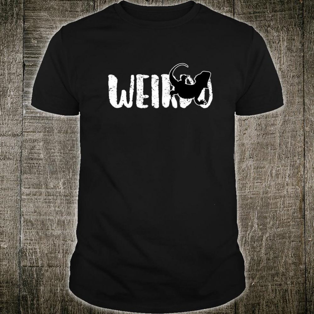 Sarcastic WEIRDO Goth Heavy Metal Bearded Dragon Shirt
