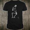 Skeleton Praying Kneel Distressed Halloween Shirt
