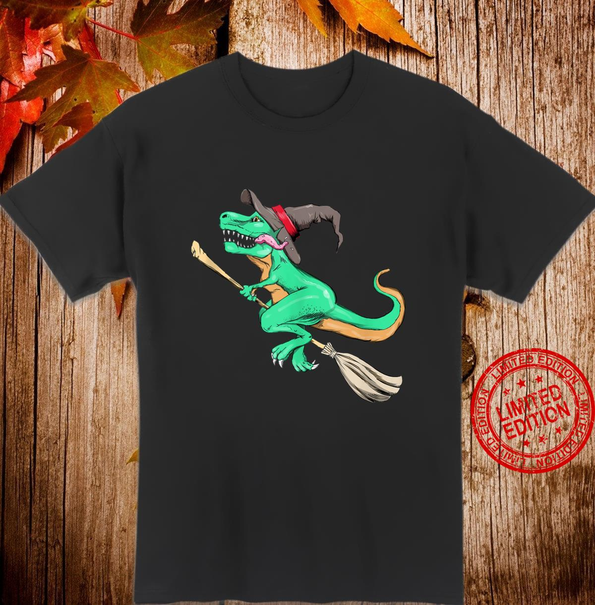 Witch TRex Dino Halloween Costume Easy Lazy Cosplay Shirt
